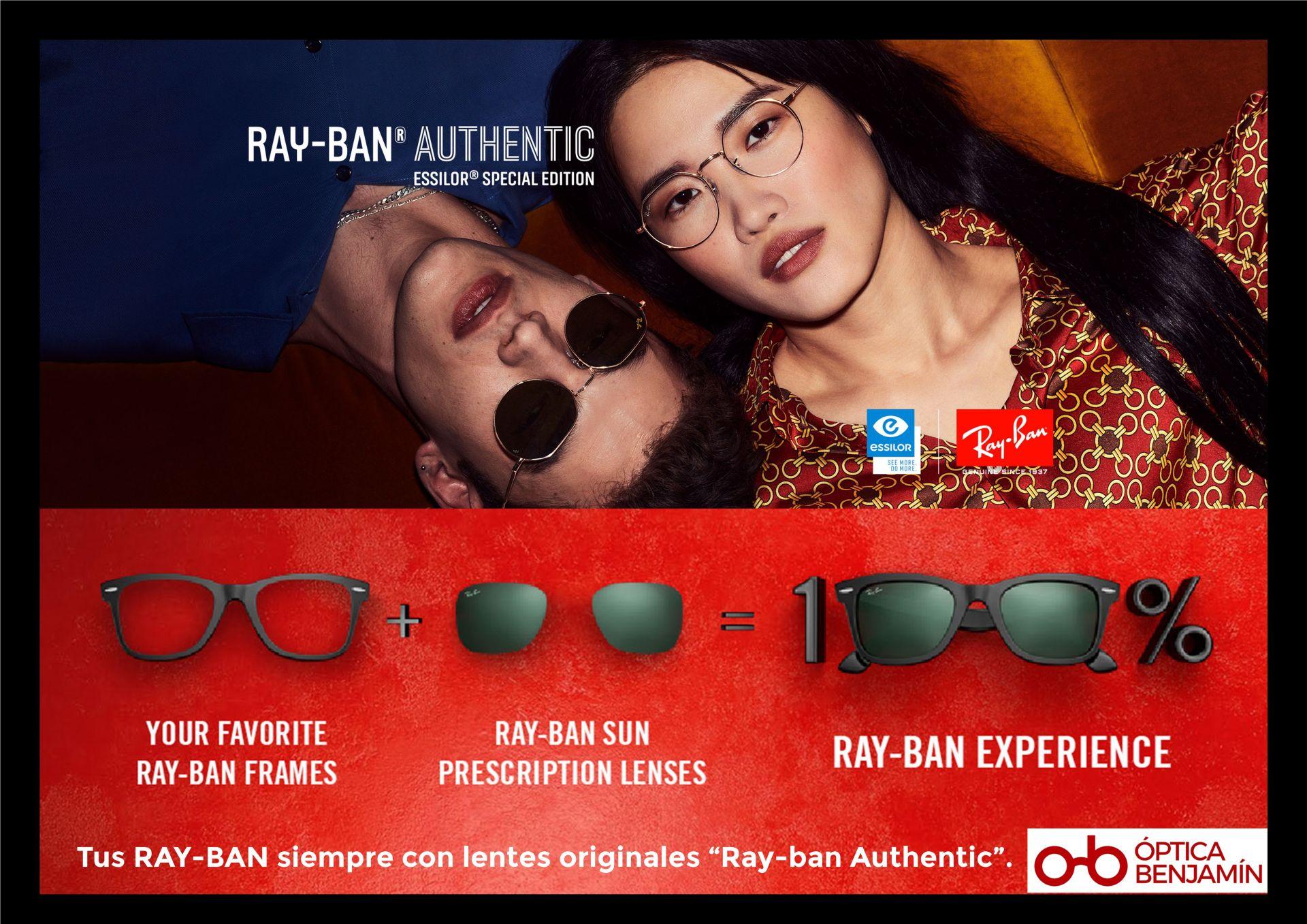 Tus Rayban, siempre con lentes originales AUTHENTIC